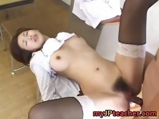 Mai Hanano Sexy Japanese teacher fucked part5