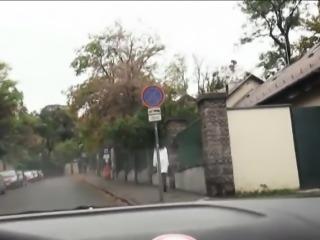 Naughty nurse Leyla Peachbloom hitchhikes and fucks stranger