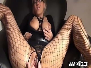 Blond milf fisted and creampied in her greedy pussy