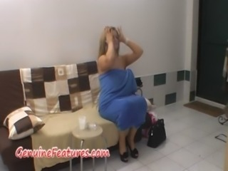 Backstage fun with czech chubby blonde free