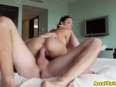 Busty gf who loves anal fucking in pov