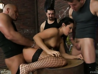 Lauro Giotto makes David Perrys tool harder before getting her butthole humped