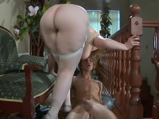 RARE Young boy fucks thick BBW Russian Milf 2