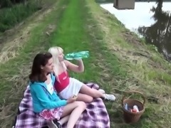 Teen dykes yummy picnic