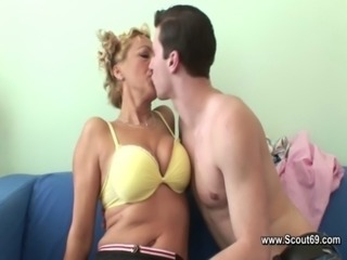 Horny Mother fuck with her step-son after school free