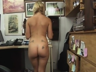 Pig Tailed Blonde Sucking Dick In Pawn Shop Office