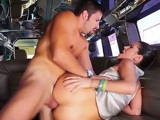 Taking a ride around the town while sucking dick in a car is what she lives...