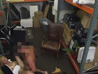 Pawnshop milf facialized after sucking dick and fucking