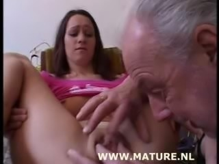 Old Man doing Teen after showi...