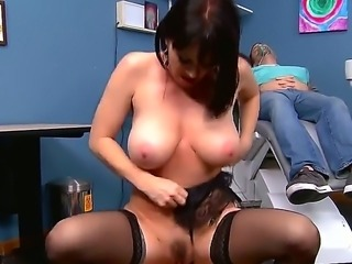Dr. Johnny Sins loses control as soon as beautiful big titted MILF RayVeness...