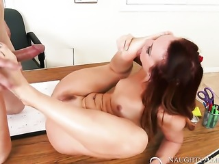 Dani Jensen teaches her student sex