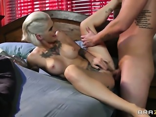 Clover uses his rock hard pole to bring blowjob addict Beautiful sex kitten...