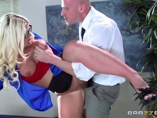 Johnny Sins is about to bone the milf twat of his bossy blonde boss. She...