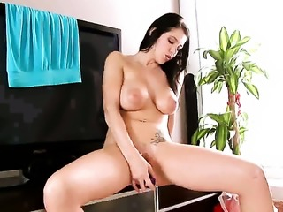 Adrianne Black is curious about masturbating her twat on camera