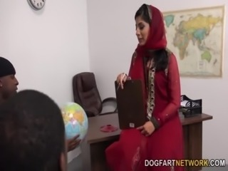 Nadia Ali Learns To Handle A Bunch Of Black Cocks free