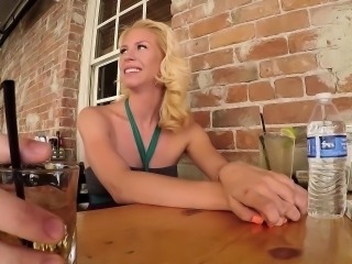This little 24 year old blonde is a complete nympho maniac.