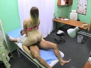 Busty hospital patient needs a dose of doctor