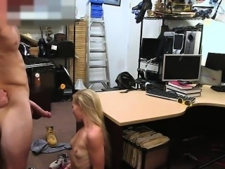 Blonde bimbo woman gets fucked by Shawn