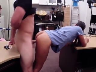 Tonguepierced nurse fucks on desk to sweeten the deal