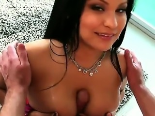 Sophia Lomeli is a Latina with a huge ass and tits. She is with a guy,...