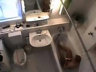 Cutie caught on spy camera in the bathroom