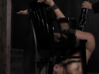 Sub restrained upside down and toyed