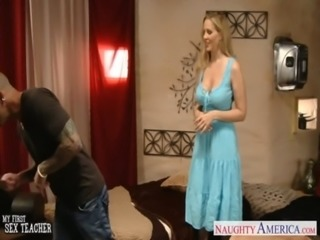 Chesty blonde teacher Julia Ann fucking free
