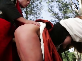 Shayla La Veux fucked in outdoor