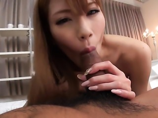 Busty Nami Itoshino sucking it real well