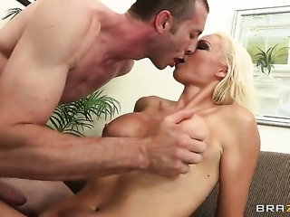 Rhylee Richards with juicy breasts satisfies her sexual needs and desires...