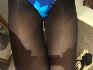 Crossdresser Swimsuit and Tights