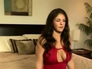 Gorgeous mother in low takes care of her horny stepson
