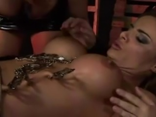 Lesbian mistresses fist anal deep and make her squirt