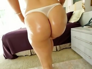 Hot blonde has a delicious huge ass. She loves it when her ass crack is...