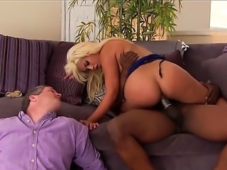 Bridgette B. is a blonde milf with large saggy tits. She is having...