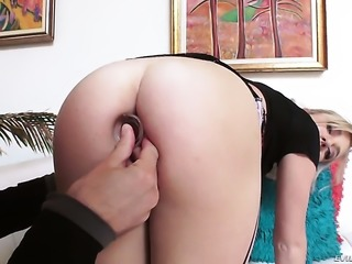 Tiffany Watson is a hard cock addict that gets her butt used by Mick Blue...