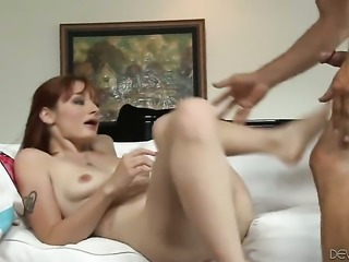 Violet Monroe takes guys throbbing fuck stick deep in her mouth