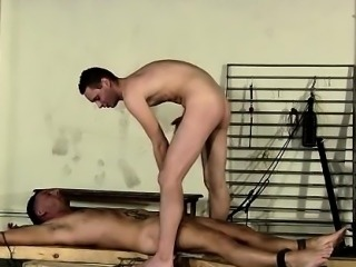 Gay white socks bondage Theo lays nude and restrained, his b