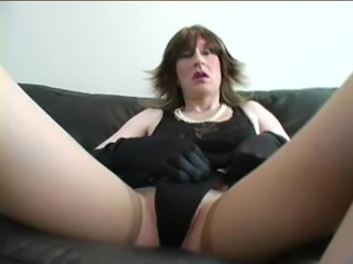 Burning crossdressers threesome