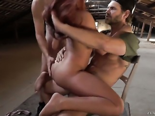 Gala Brown plays with Nacho Vidals rock hard love torpedo before she takes it...