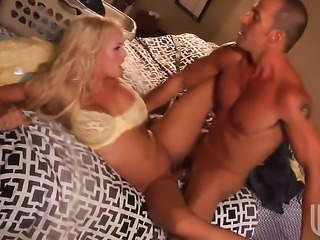 Stormy Daniels gets covered in cock cream