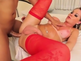 Latina tgirl doggystyled up her ass