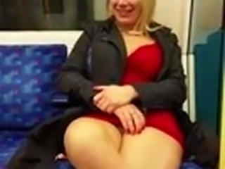 Whore Kirsty first night on the tube