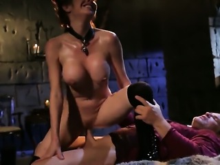 Veronica Avluv drops on her knees to take guys boner in her mouth