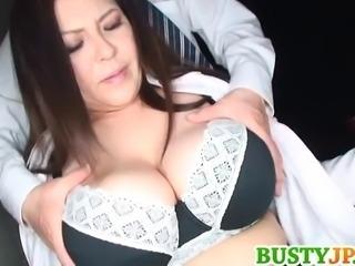Yuuki has immense boobs licked