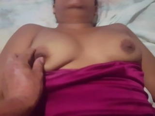 Young Mexican Hairy Whore Masturbates Before Fuck!