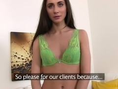 small tits babe in fake interview