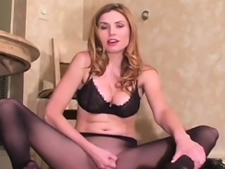 Appealing pussy in pantyhose looks as a real treasure