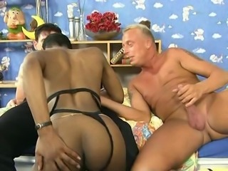 Short Hair Ebony Swarovski Fraulein Interracial DP
