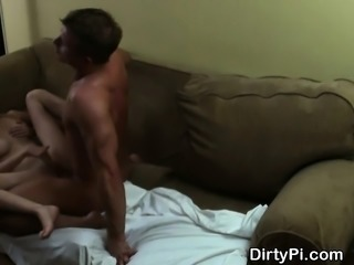 Cheating Blonde Housewife Takes Cumshot On Hidden Cam